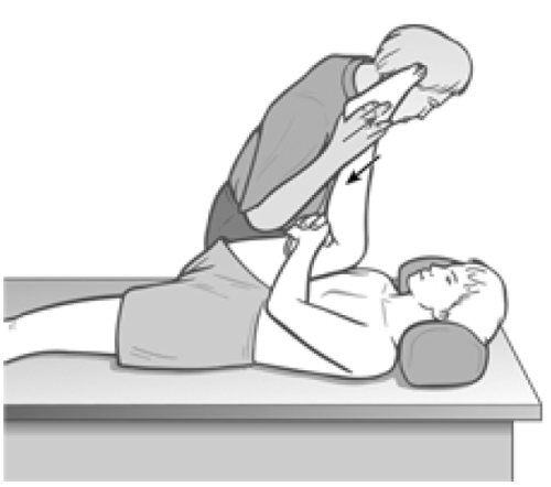 Figure 4 13 Assessment and Treatment Position for Lower Hamstring Fibers