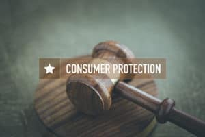Gavel and Consumer Protection Headline.