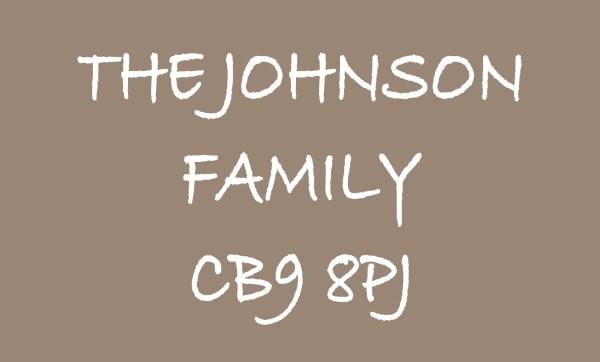 Brown The ... Family & Postcode Personalised Doormat