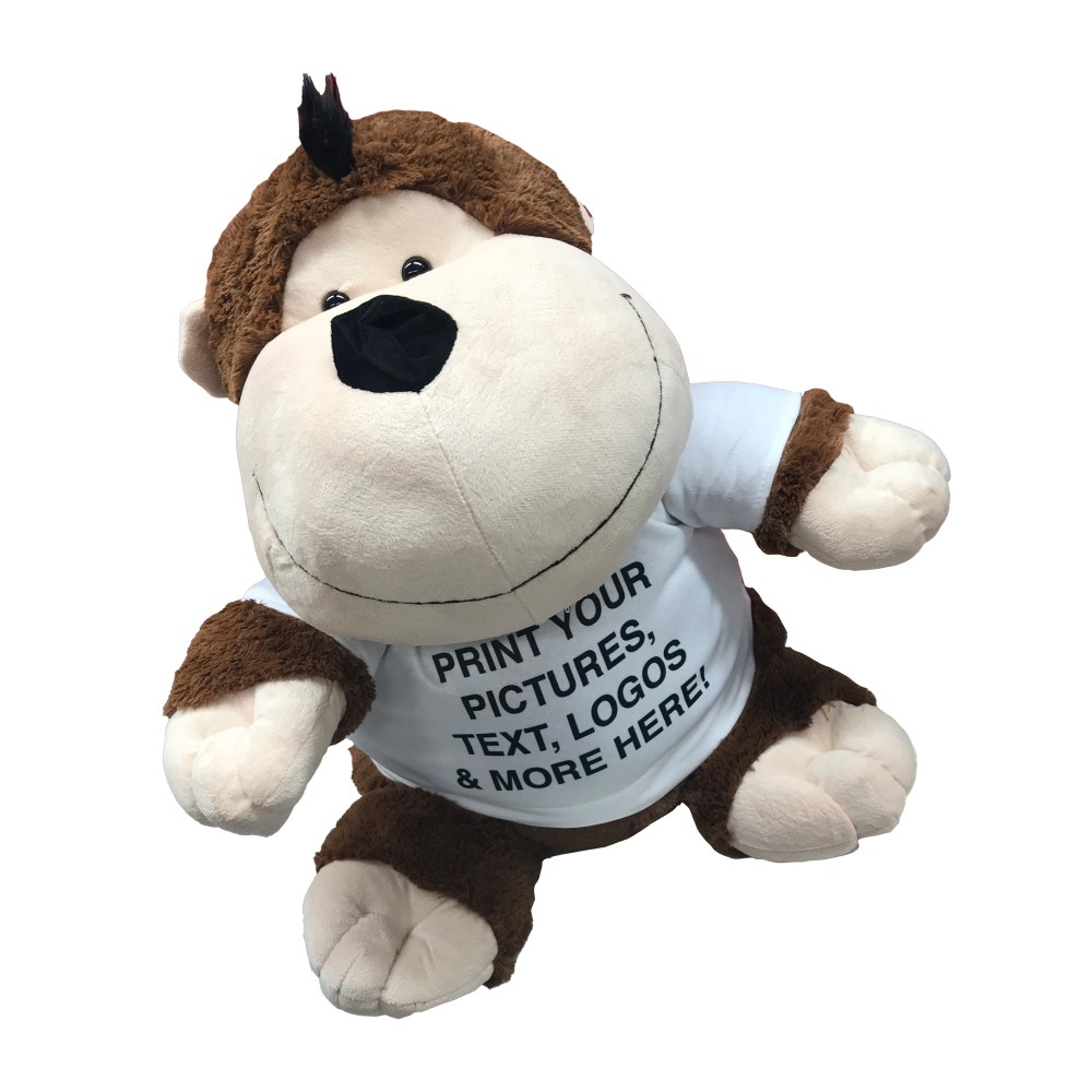 Personalised animal toy, personalised soft toy, personalised toy t-shirt, personalised monkey, personalised lion, personalised dog, personalised tiger