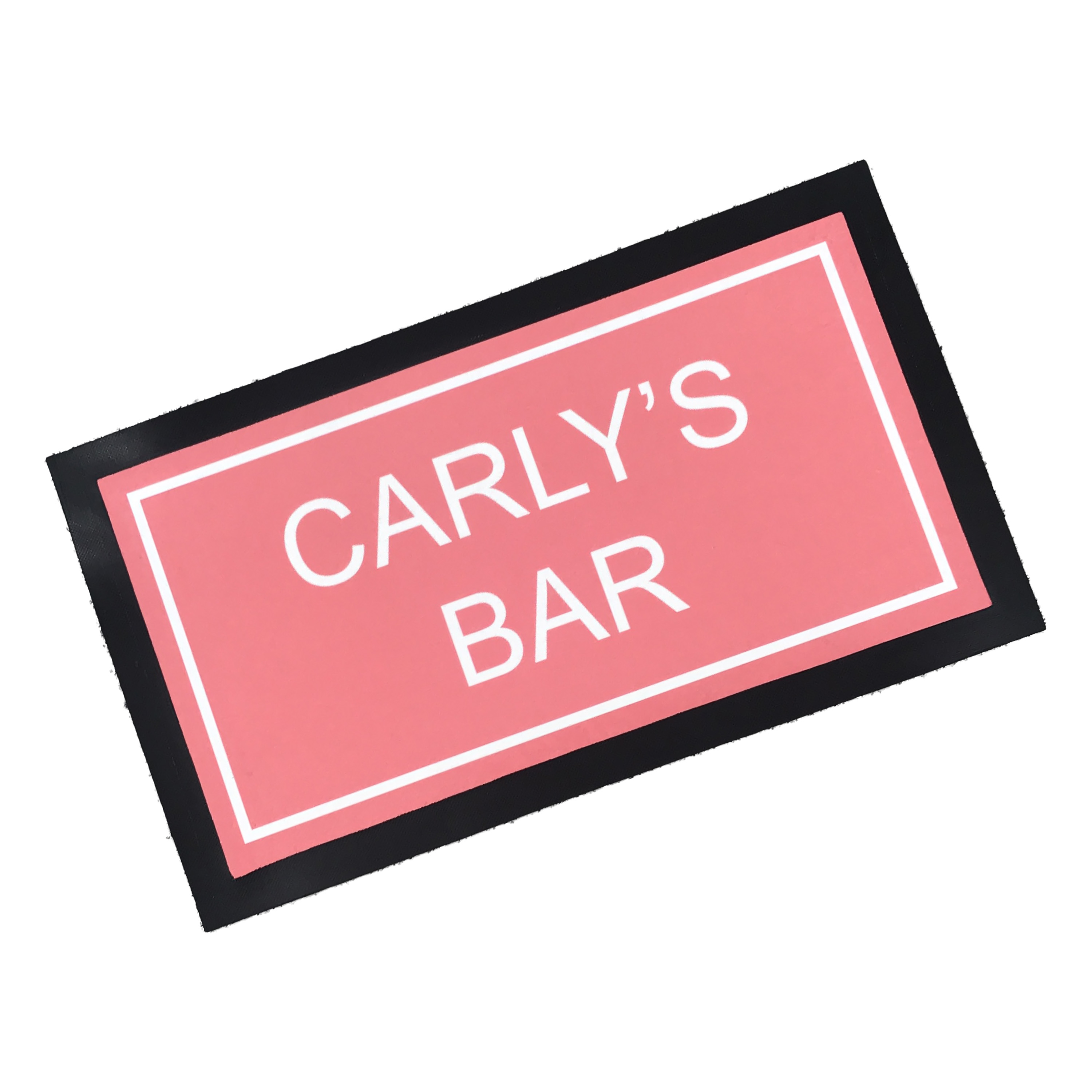 PERSONALISED BEER FREINDS ORANGE NAME//LOGO BAR RUNNER HOME PUB BEER MAT OCCASION