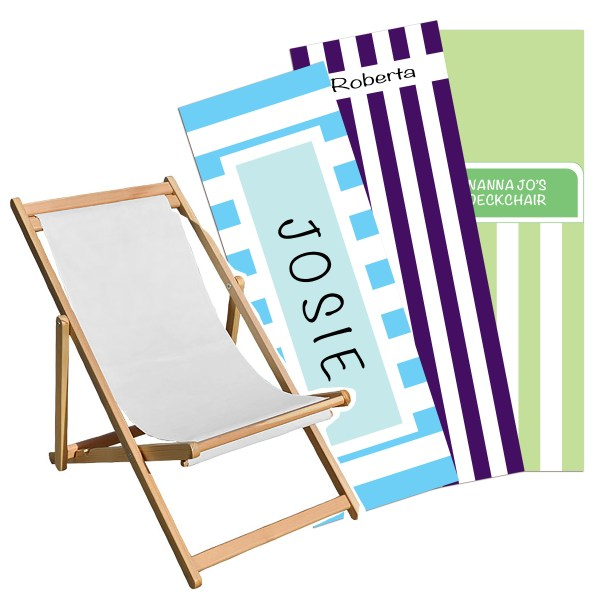 Design Your Own Deckchair, Personalised Deckchair, Custom Deckchair