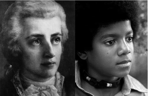 W A Mozart and M Jackson