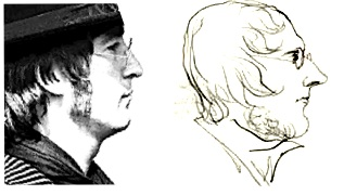 John Lennon(L) and Branwell Brontë (R)