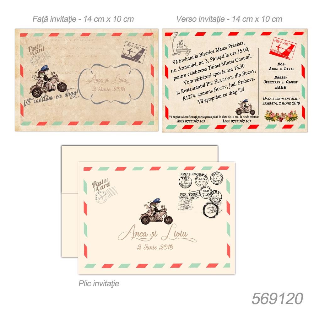 Invitatie Nunta Carte Postala