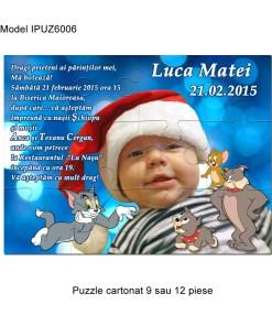 Invitatii Botez Puzzle