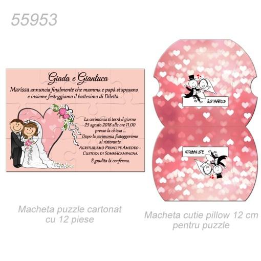Invitatii Nunta Puzzle Carton