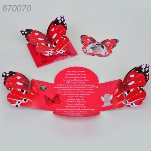 Invitatie Botez Cutie Fluture