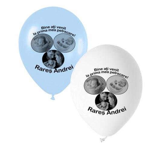 Baloane personalizate cu 3 fotografii