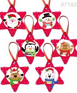 Globuri ornamente decoratiuni forma stea set 6 bucati