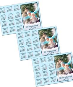 Calendar magnetic 2021 bleu