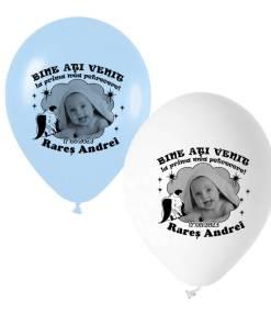 Set 12 baloane personalizate cu fotografie tematica elefantel si stelute