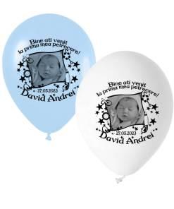 Set 12 baloane personalizate cu fotografie tematica botez