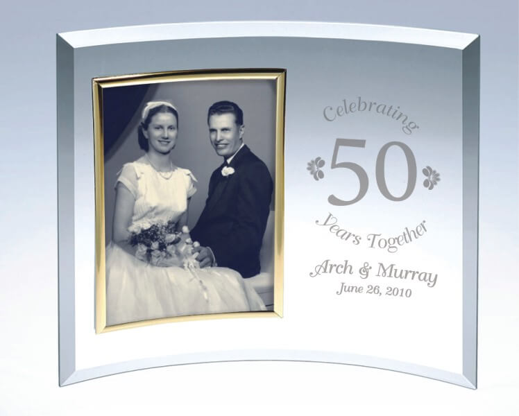 Personalized Curved Glass Picture Frame A Classic