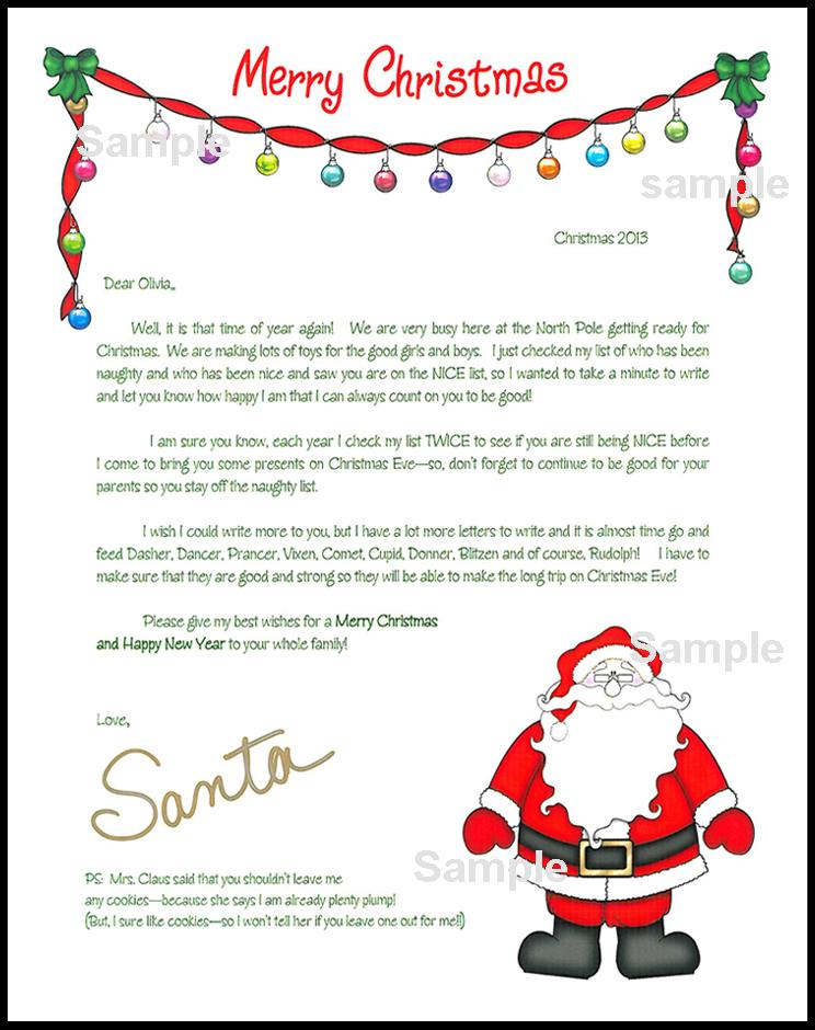 Letter From Santa New Jersey