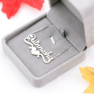 Trendy Personalized Letter Necklace With Heart
