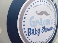 Mustache Baby Shower Door Hanger