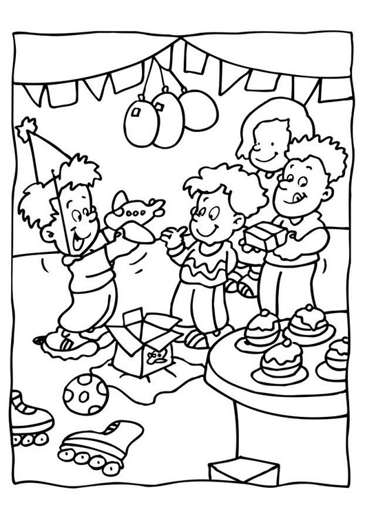 Coloring Pages Birthday Party Invitation Coloring Pages