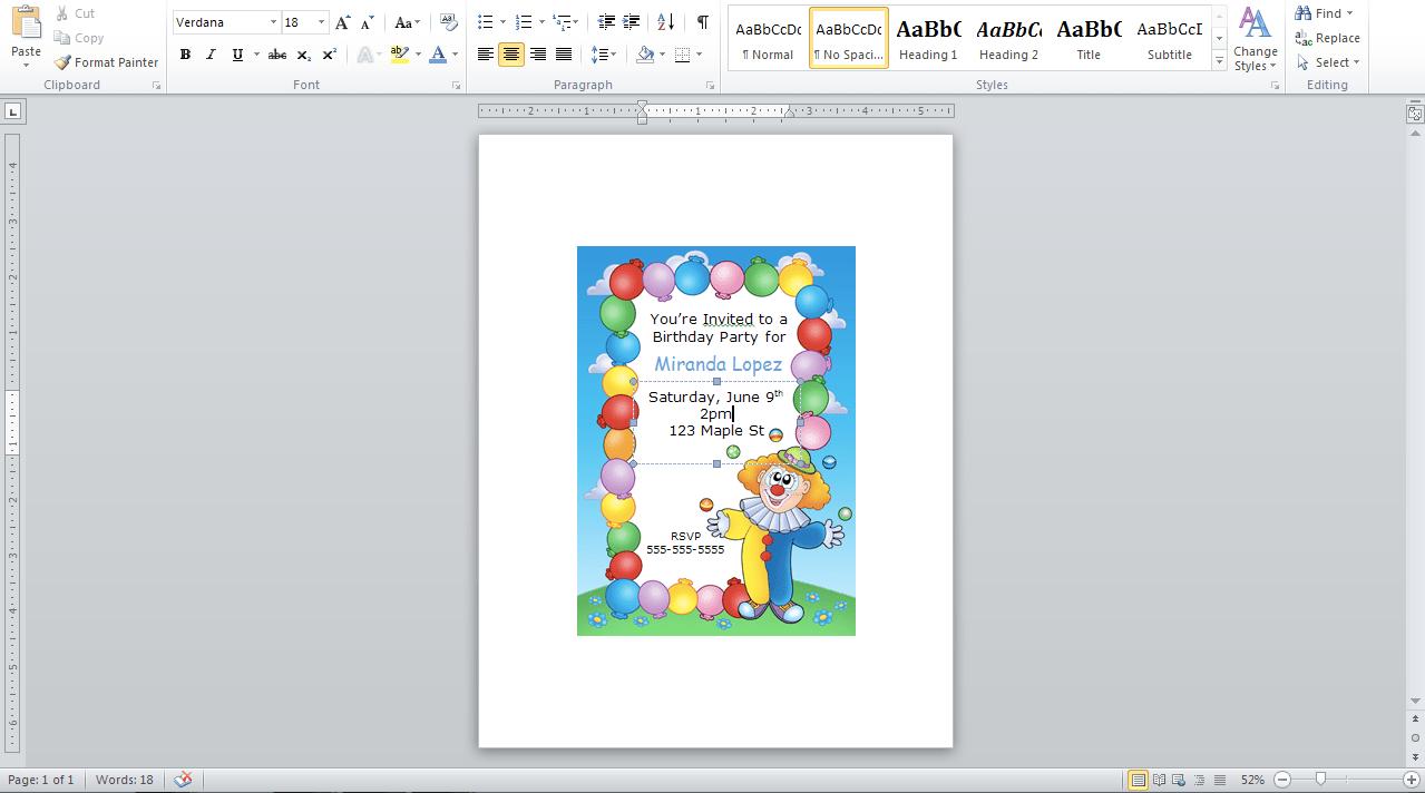 40th birthday ideas birthday invitation templates word 2010