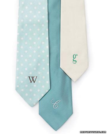 monogrammed tie