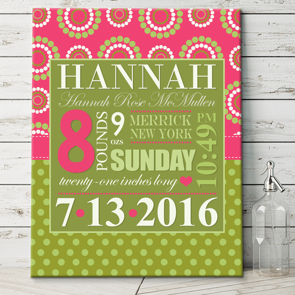 green pink girls personalized