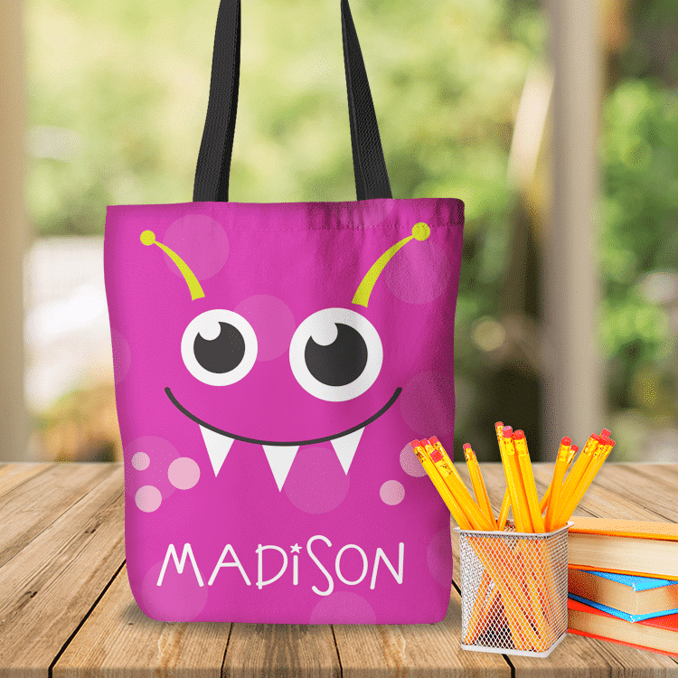 cute pink monster personalized