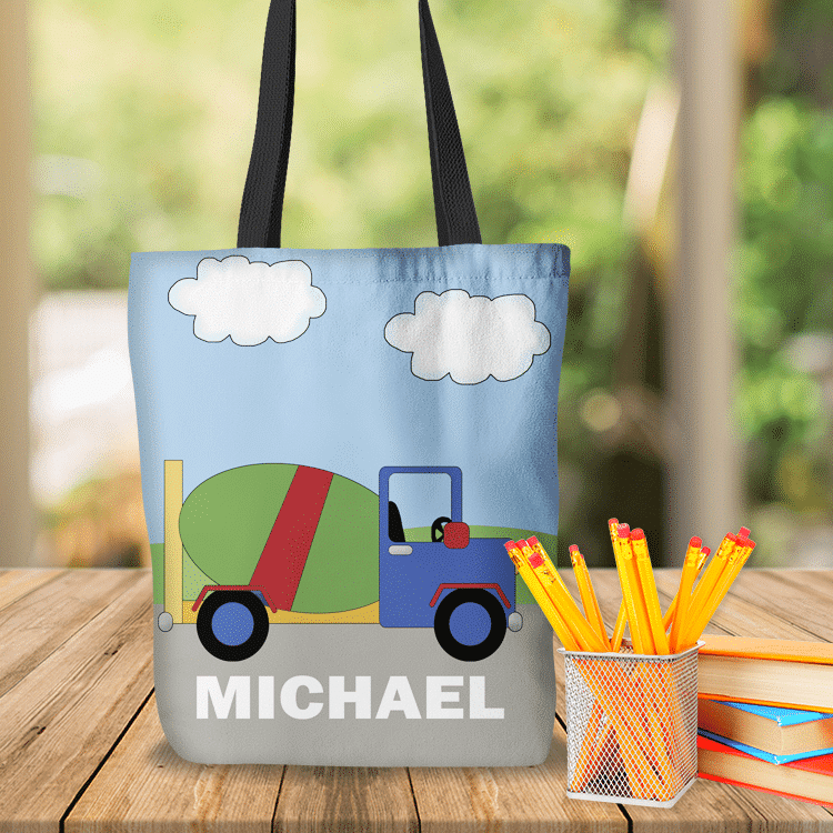 construction cement truck personalized