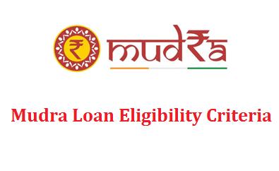 Eligibility Criteria for MUDRA Loan   Personal Loans ...