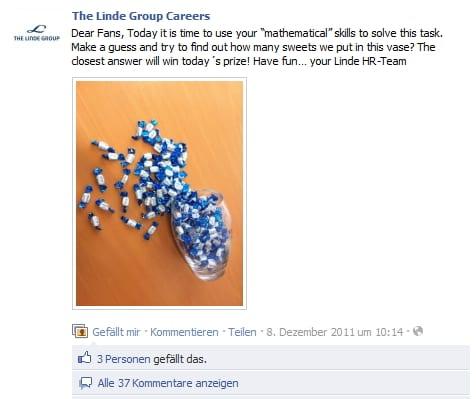 Originelle Weihnachtsrätselaktionen von Linde Group Careers
