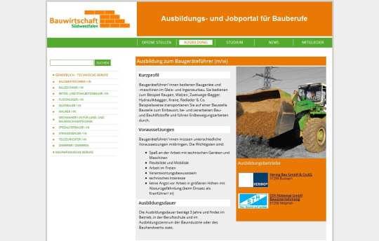 Ausbildungs- und Jobportal der Bauwirtschaft Südwestfalen
