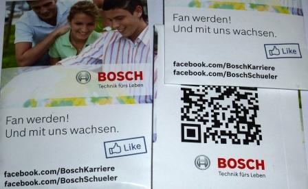 Fan werden und mit uns wachsen - nettes Gimmick zur Bekanntmachung der Bosch Karriere-Page