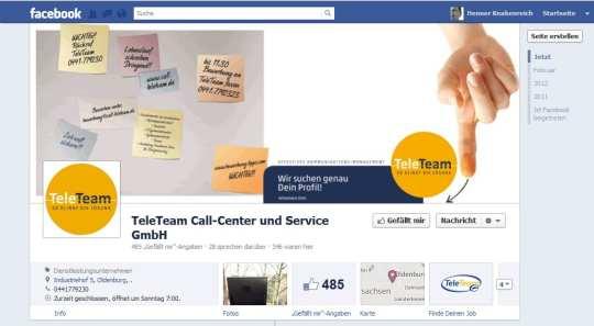 """Noch mal Callcenter, diesmal Teleteam. Und diesmal auch wieder mit Verstoß gegen """"Facebook-Recht"""""""