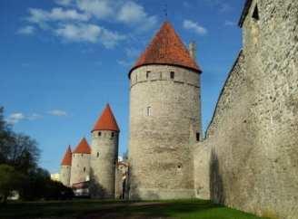 Ein Teil der Stadtmauer ...