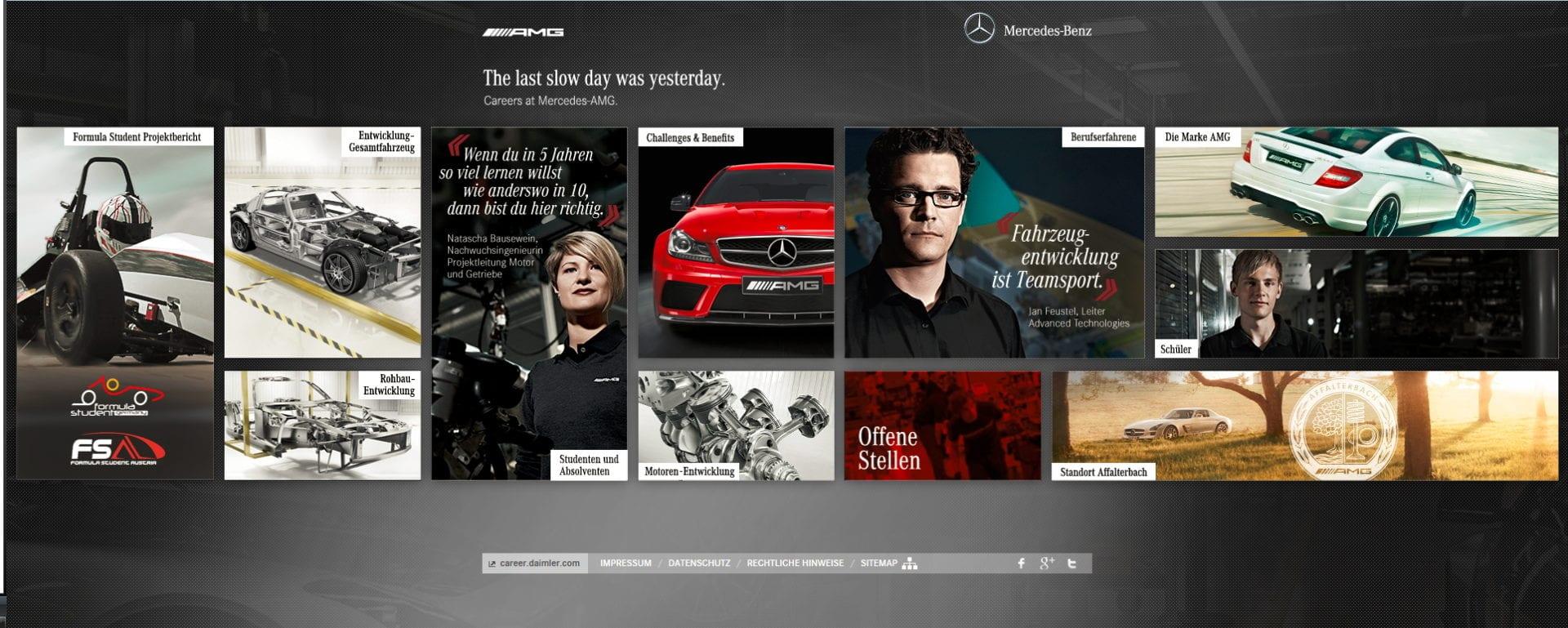 die neue karriere-website von mercedes amg. omg!