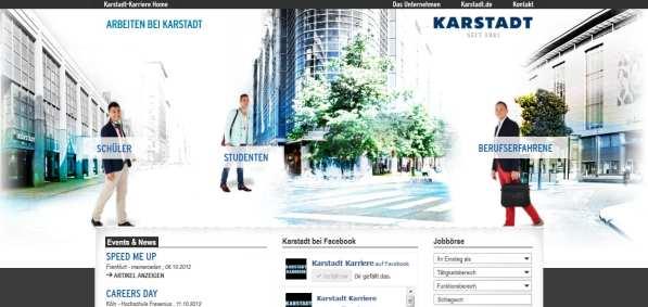 Karstadt Karriere - das geht soweit, dass ganze Zielgruppen verschwinden...