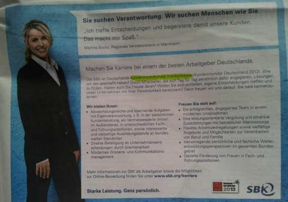 Great Place to Work - Deutschlands bester Arbeitgeber - SBK - Imageanzeige