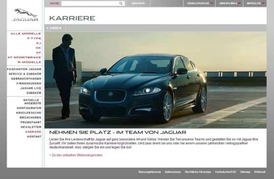 Karriere bei Jaguar - Infos sind rar gesät