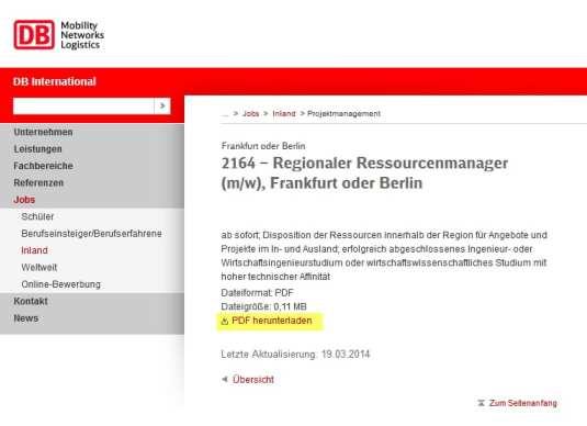 Online-Bewerbung bei der Bahn - Spießrutenlauf Teil III