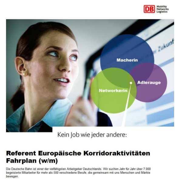 Referent Europäische Korridoraktivitäten