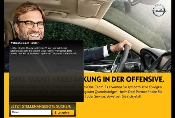 Opel sucht Verstärkung in der Offensive - scheitert aber schon an der Website