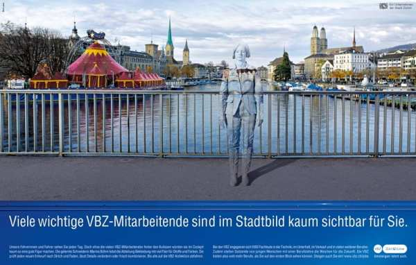 Personalmarketing-Kampagne der VBZ-Unsichtbare Talente 2