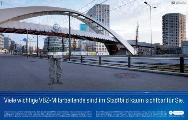 Personalmarketing-Kampagne der VBZ-Unsichtbare Talente 3