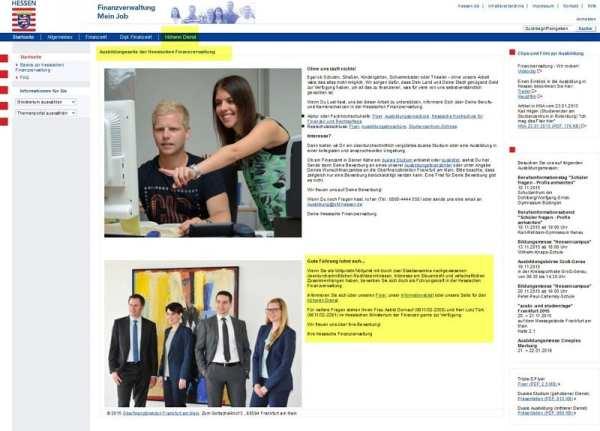 Finanzverwaltung - mein Job - Ausbildungsseite der Hessischen Finanzverwaltung