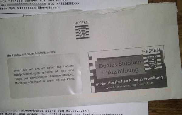 Personalwerbung bei der Hessischen Finanzverwaltung - simpel per Briefumschlag