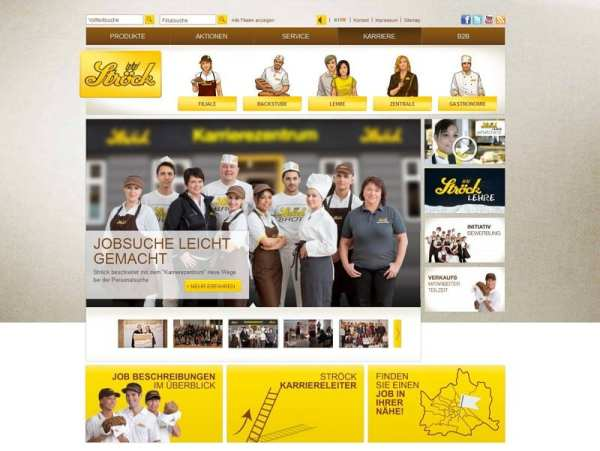 Karriere-Website Bäcker Ströck
