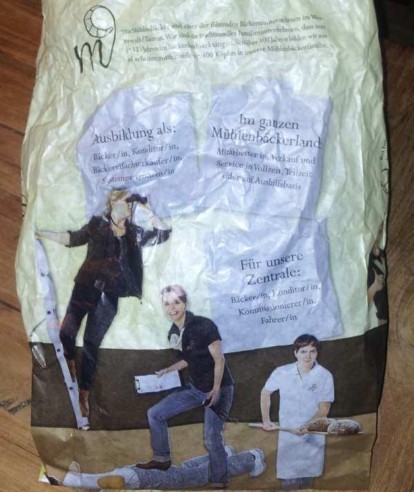 Personalmarketing mit Brötchentüten beim Mühlenbäcker