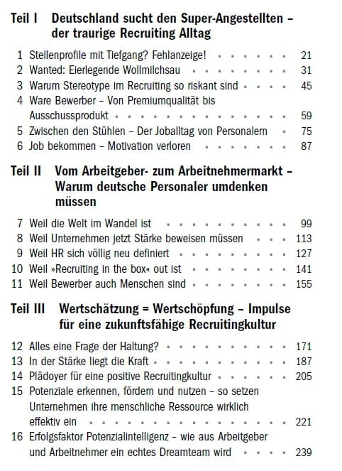 Die Auswahl von Birgit Herrmann - Auszug aus dem Inhaltsverzeichnis