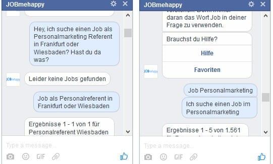 Jobsuche per Chatbot - Jobmehappy machts möglich