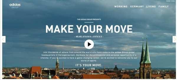 Adidas widmet seinem Standort Herzogenaurach eine ganze Microsite