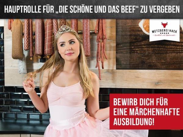Schöne und das Beef - peinliches Azubimarketing bei der Fleischerei Hack aus Freising